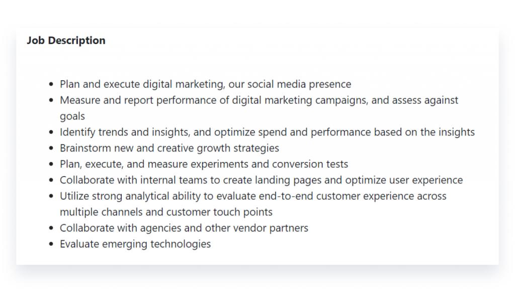 Digital Marketers Job Description in Nepal