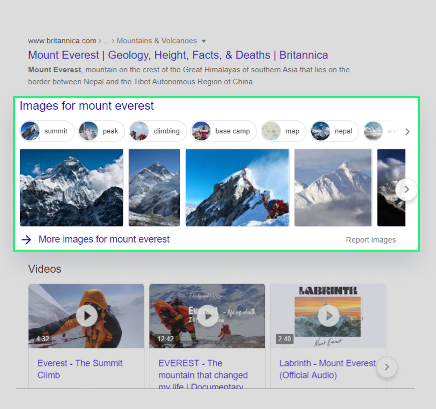 Image result as carousel form for query Mount Everest in Nepal