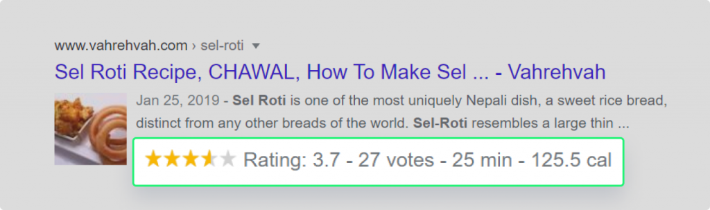 Showing Reviews as rich snippet in Organic result